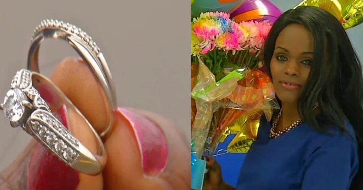 lost rings.jpg?resize=412,232 - Une femme est récompensée pour avoir rendu des alliances perdues qu'elle a trouvées à l'extérieur de Walmart
