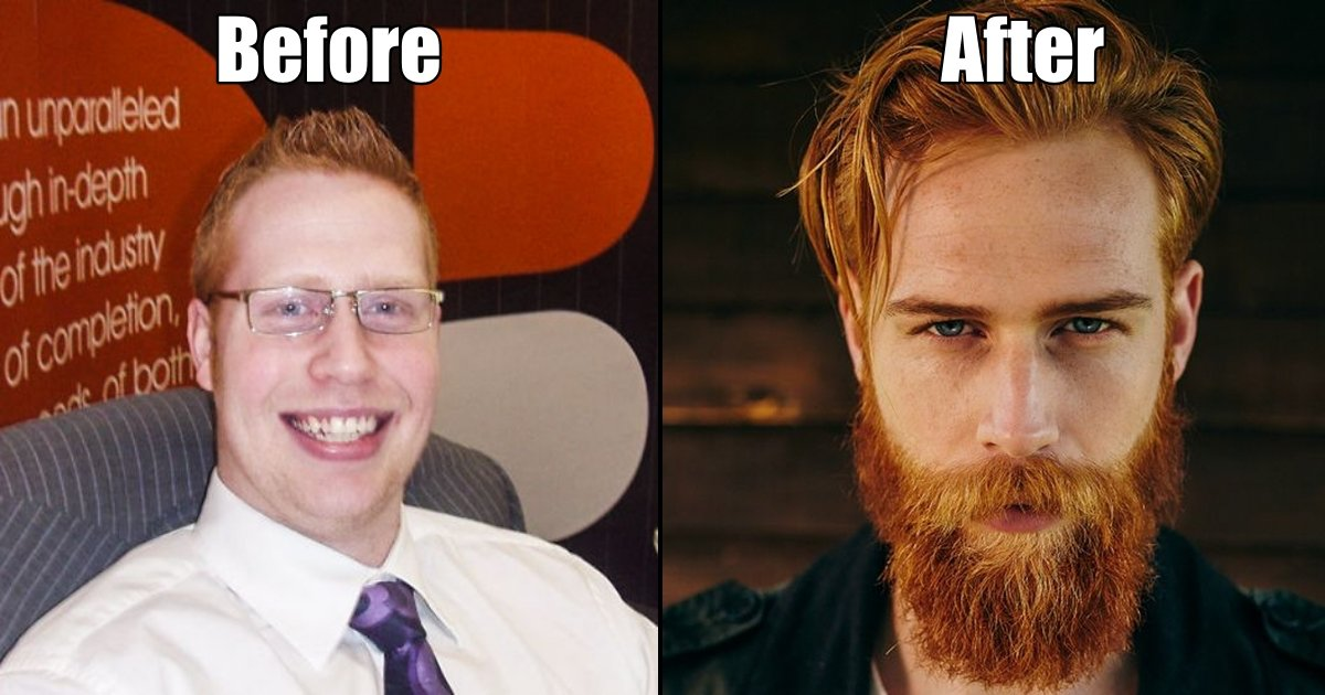 man side 1 - Shy Insurance Man Grows Beard And It Completely Transforms His Life