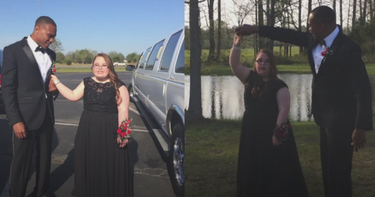 nfl star - NFL Star Brings Girl With Special Needs To Her Long-Expected High School Prom