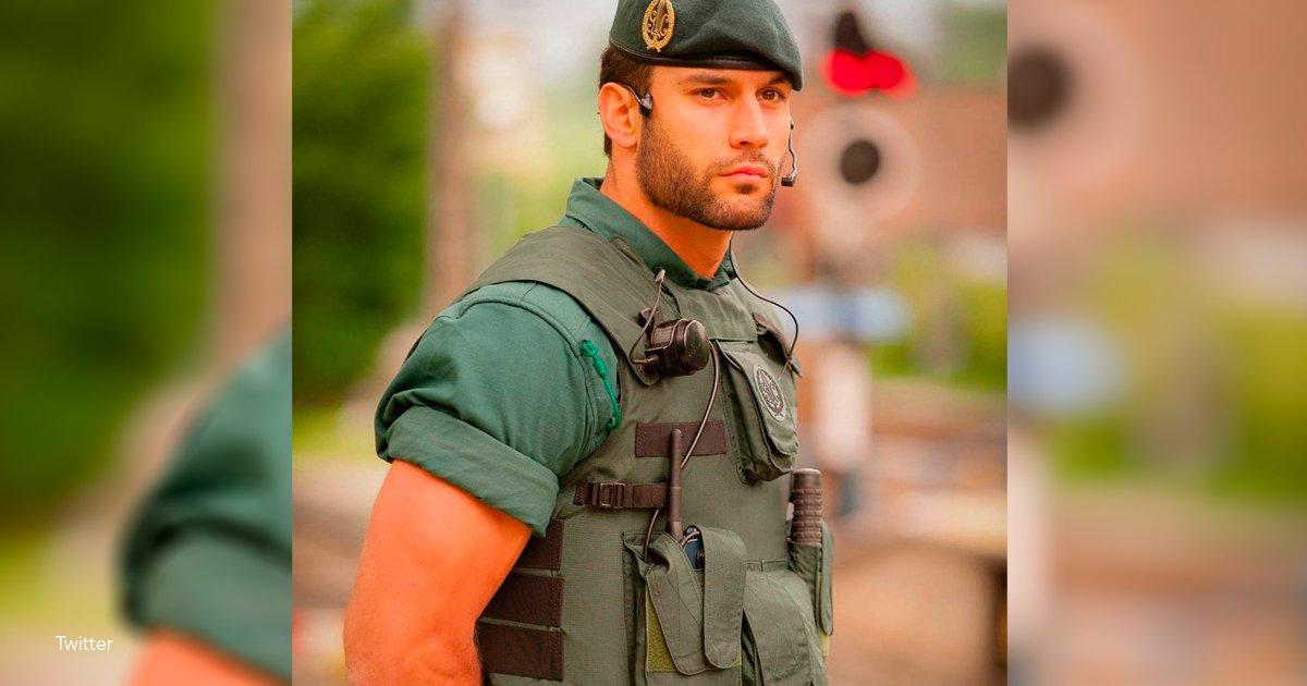 oficial.png?resize=1200,630 - El twitter de la Guardia Civil subió la foto de un agente que derritió toda la red social