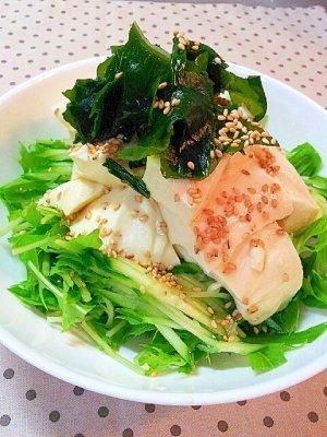豆腐と水菜のサラダ에 대한 이미지 검색결과