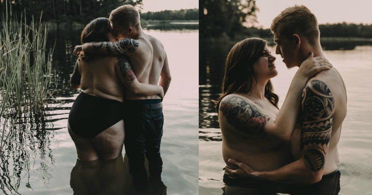 photoshoot nervous.jpg?resize=1200,630 - Une femme grand taille et son fiancé exposent leur amour en photo et elles deviennent virales sur Internet