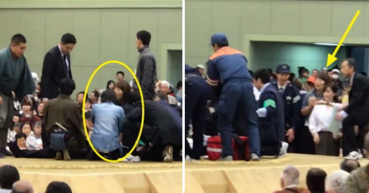 "qewrqewrewq - ""여자는 씨름판에서 내려가라"" 생명을 살리기 위해 뛰어든 여자를 쫓아낸 일본"