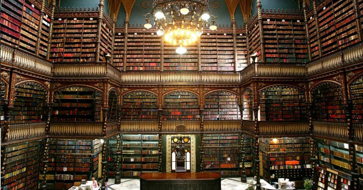 real gabinete - Rio de Janeiro tem a quarta biblioteca mais linda do mundo