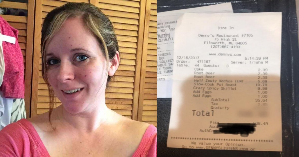 receipt tn - Stressed Waitress Prints Receipt And Nearly Faints After Serving 3 Unkempt Men
