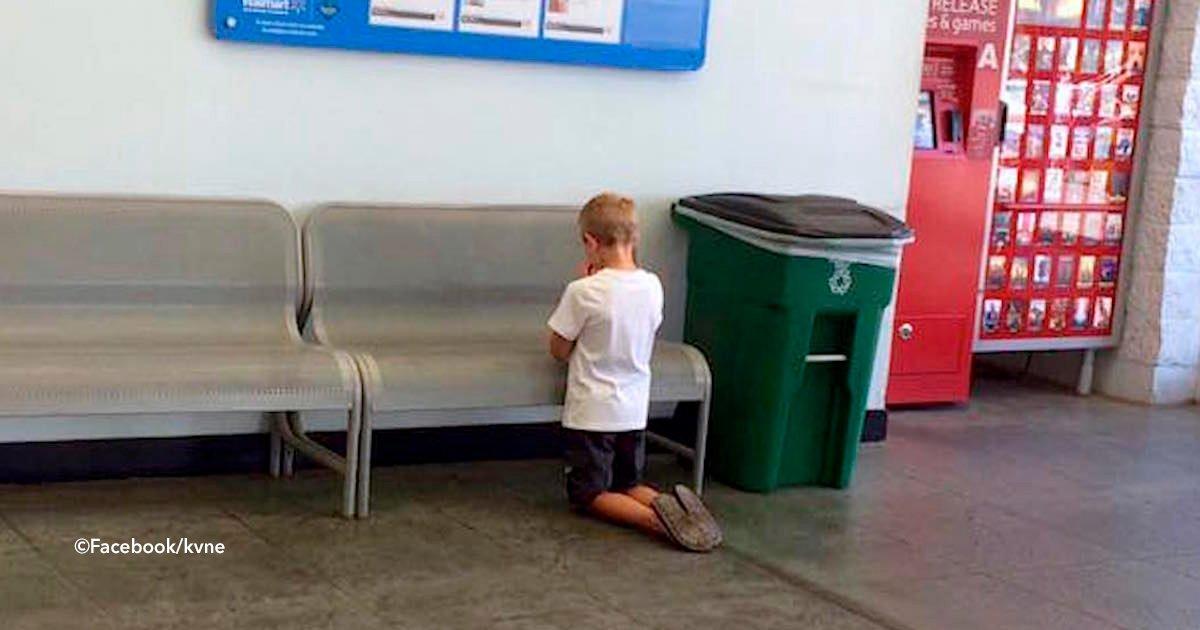 rezaso.jpg?resize=648,365 - Pierde a su hijo en el supermercado, después lo encuentra rezando por un motivo terrible