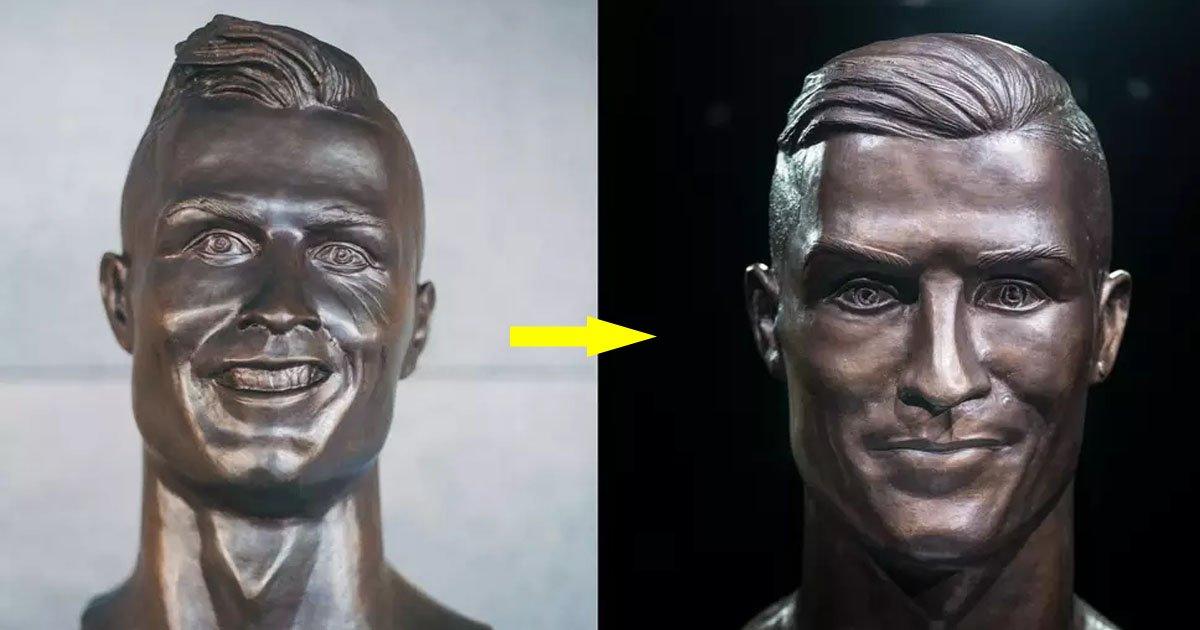 ronaldo - Sculptor Emanuel Santos Is Back With His Second Artistic Piece Of Ronaldo, Silences Critics