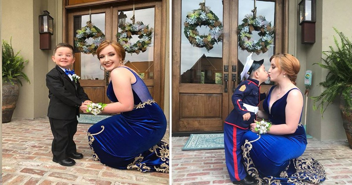 smallkid.jpg?resize=636,358 - Girlfriend Is Upset As Her Marine Boyfriend Can't Attend Her Prom – Then She Replaces Him With Someone Cuter