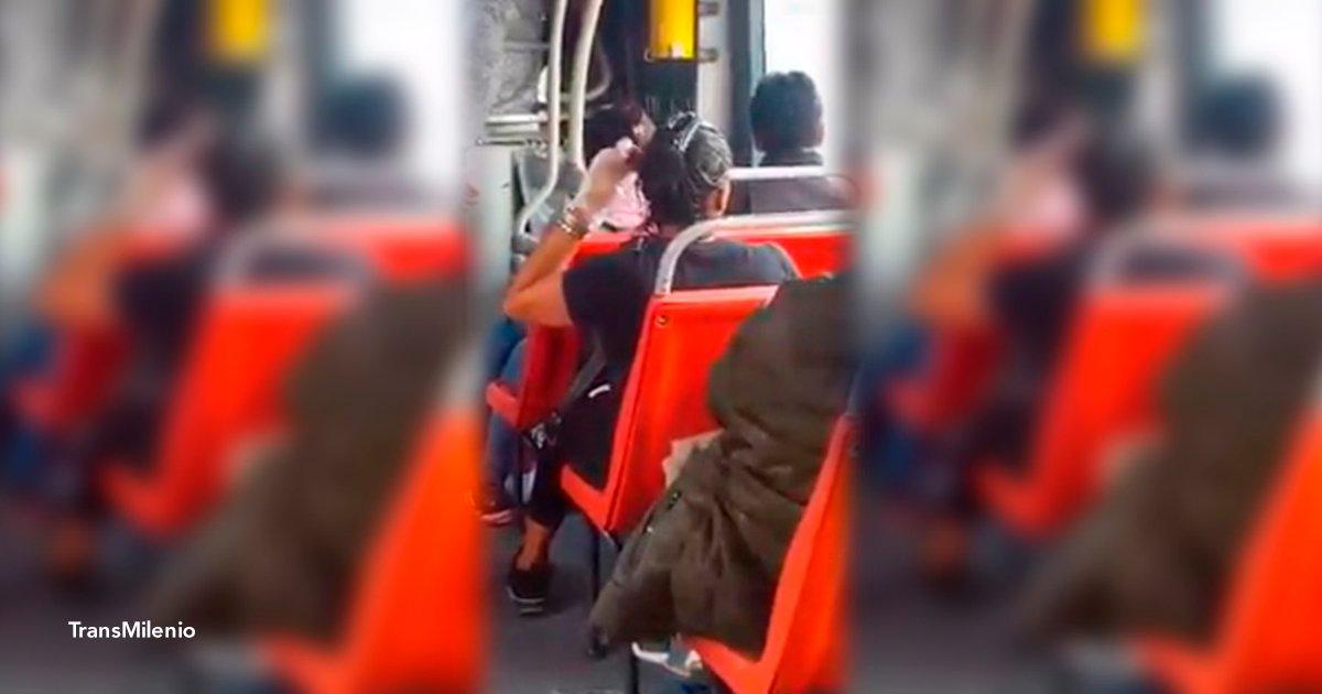 tena.png?resize=648,365 - ¡Esto sí que es bizarro! Una mujer es captada pintándose el pelo en el transporte público