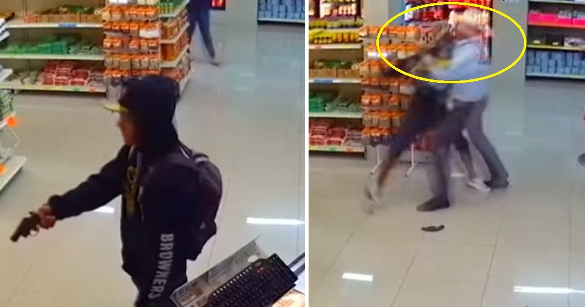 theif.jpg?resize=300,169 - Man Takes Out a Gun in Broad Daylight in a Shop in Mexico. Gets Tackled By A Man In Cowboy Hat