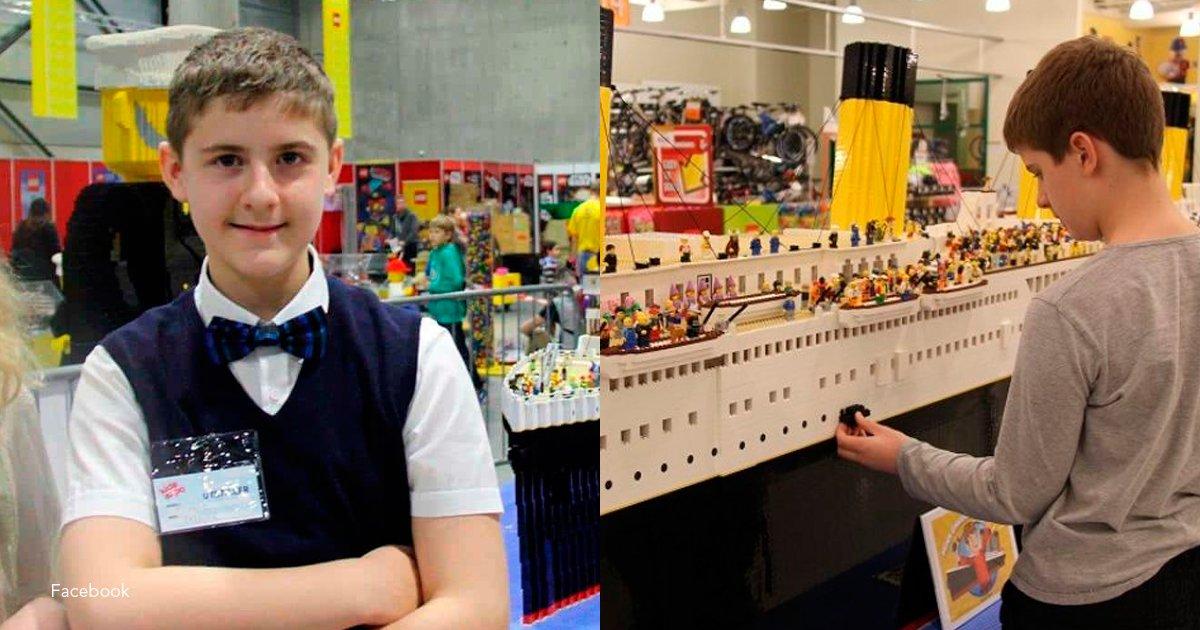 titanic - Este niño con autismo sorprendió a todos creando la réplica del Titanic en legos más grande del mundo