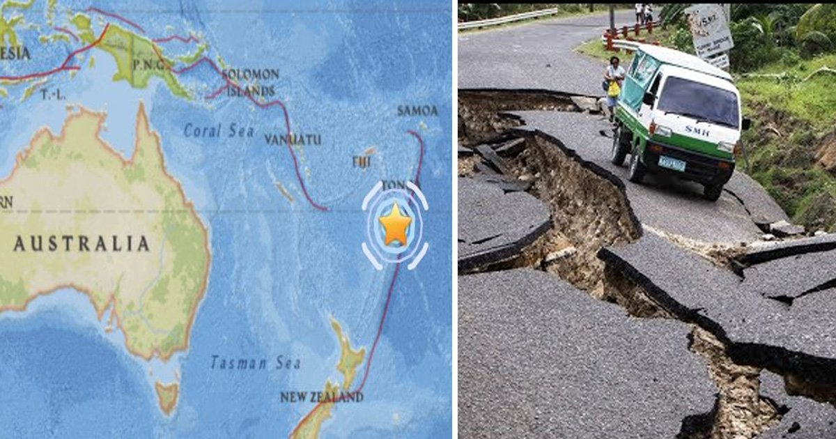 tongo - Earthquake measuring 6.3 in magnitude Strikes Southwest of Tonga