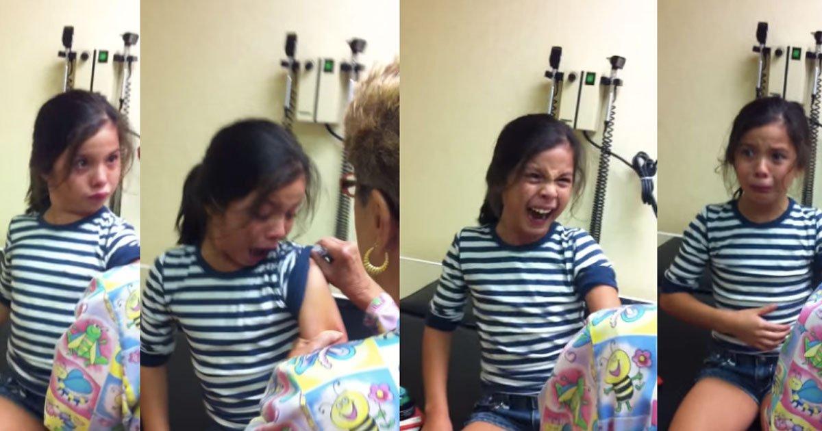 untitled 1 179.jpg?resize=412,232 - La réaction de cette petite fille se faisant vacciner a fait pleurer de rire Internet