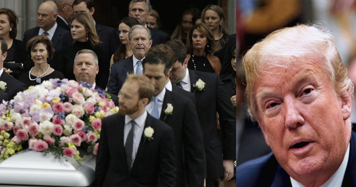 untitled 1 3 - Thousands Attended Barbara Bush's Funeral But President Donald Trump Did Not And Here Is Why