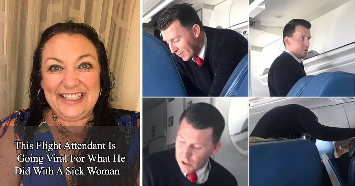 untitled 1 46 - A Woman Thought The Flight Attendant Was Going To Throw The Sick Woman Off The Flight, Later She Thanked Him After Realizing What's Happening