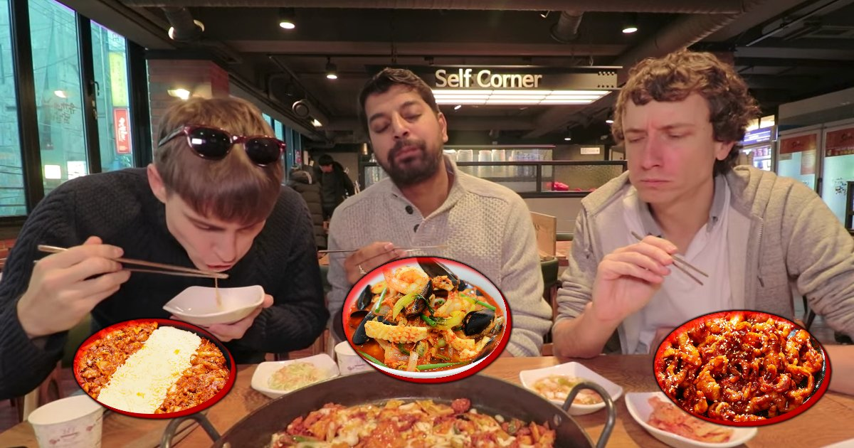 untitled 1 79.jpg?resize=300,169 - These Brits Try Out Some Of The Spiciest Korean Food Available