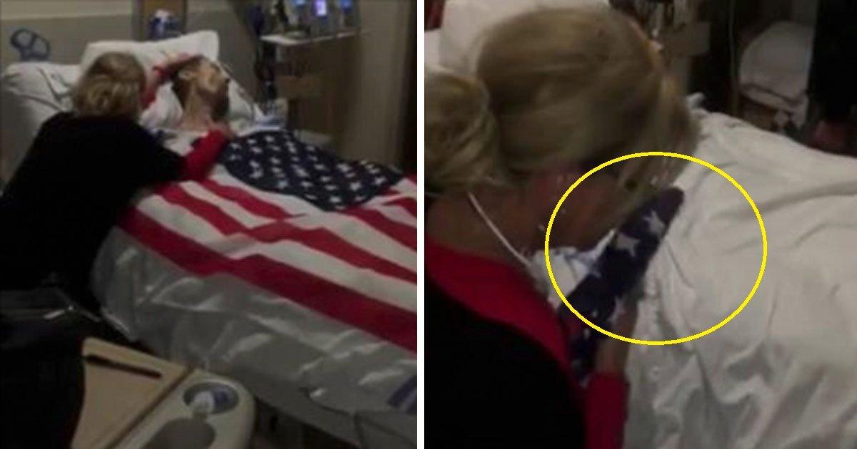 veteran 1.jpg?resize=412,232 - Un ancien combattant mourant voit son dernier souhait exaucé