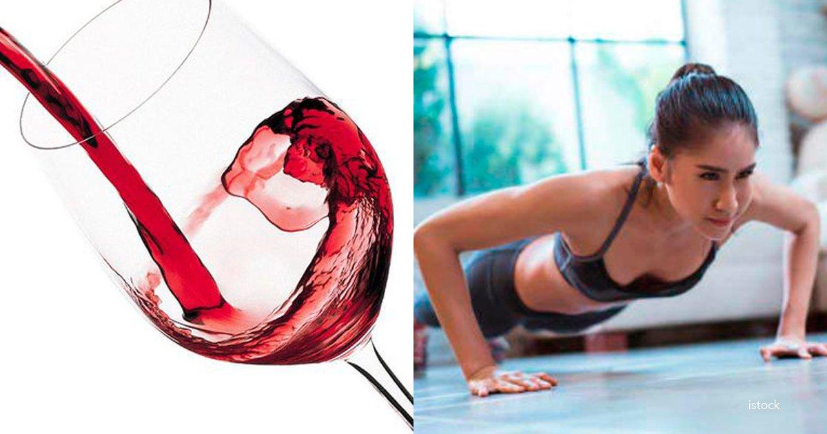 vino - Según los científicos, beber un vaso de vino es lo mismo que ir durante 1 hora al gimnasio