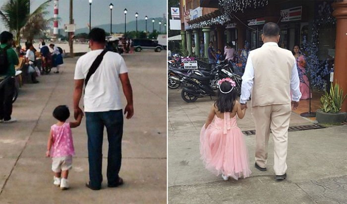 ycr88jak6x1dr509gmj4.jpg?resize=412,232 - 4年間、毎日娘と手を繋いで「後ろ姿」の写真に残したお父さん