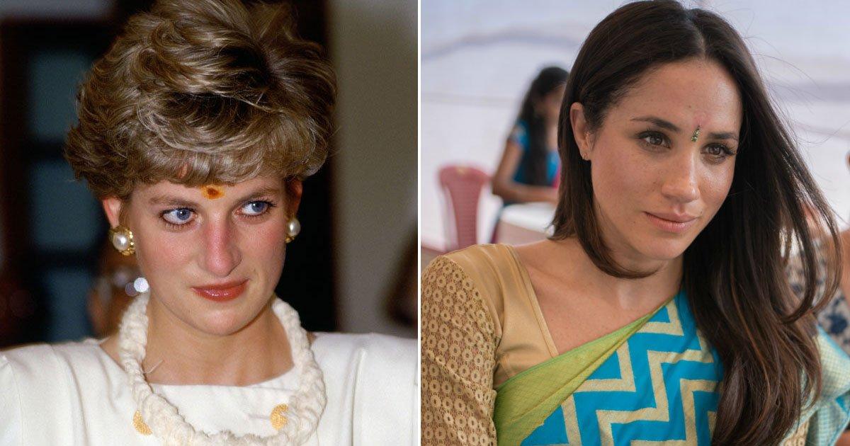 1 372.jpg?resize=300,169 - Meghan Markle Looks Like Princess Diana as She Wears a Bindi On Charity Visit to India