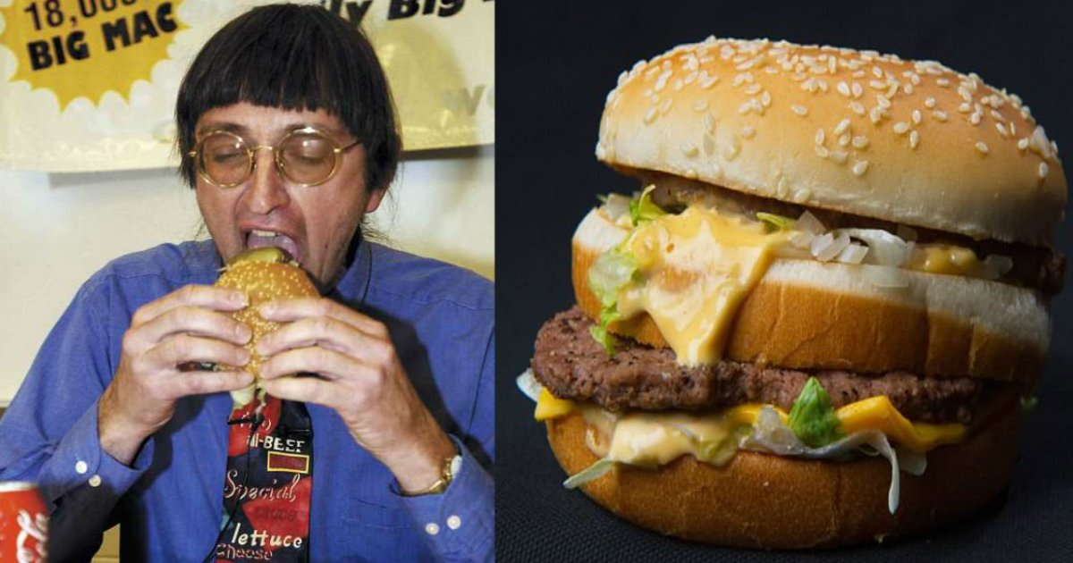 30000 big macs.jpg?resize=1200,630 - Un homme du Wisconsin âgé de 64 ans mange son 30 000ème Big Mac, battant le record du monde