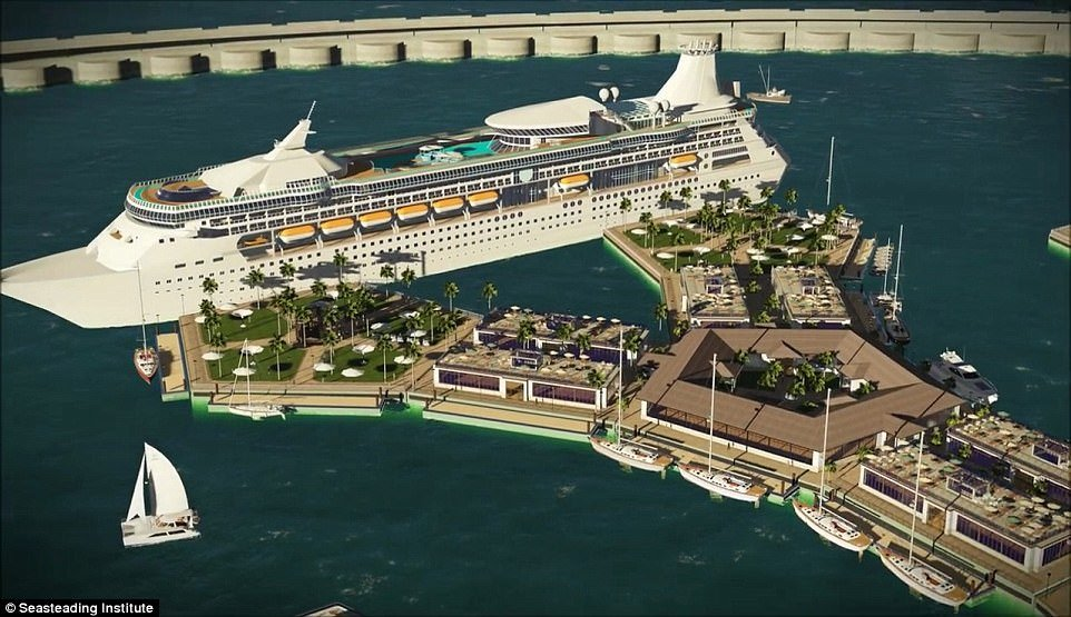 Draft legislation will be drawn up this year and construction is expected to begin in 2019. Floating islands would feature aquaculture farms, healthcare, medical research facilities, and sustainable energy powerhouses