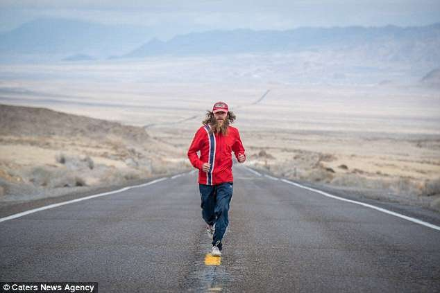 Rob runs through one of many valleys on his epic US trek