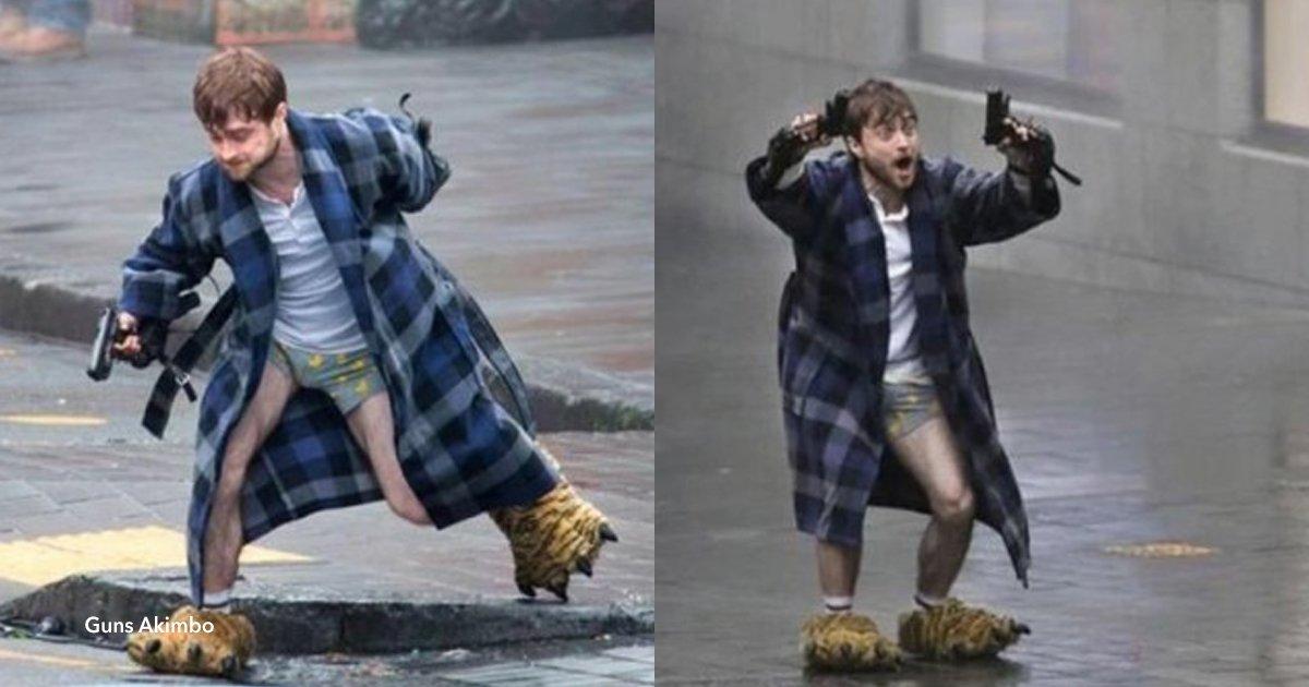 a cove.jpg?resize=1200,630 - Harry Potter (Daniel Radcliffe) foi encontrado vestido de maneira bizarra nas ruas de Auckland