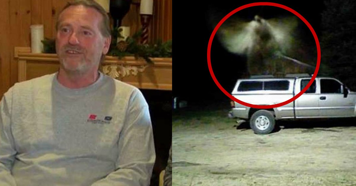 angel caught on camera.jpg?resize=412,232 - Fire Chief Believes His Home Security Camera Caught An Angel Flying Over His Pickup Truck