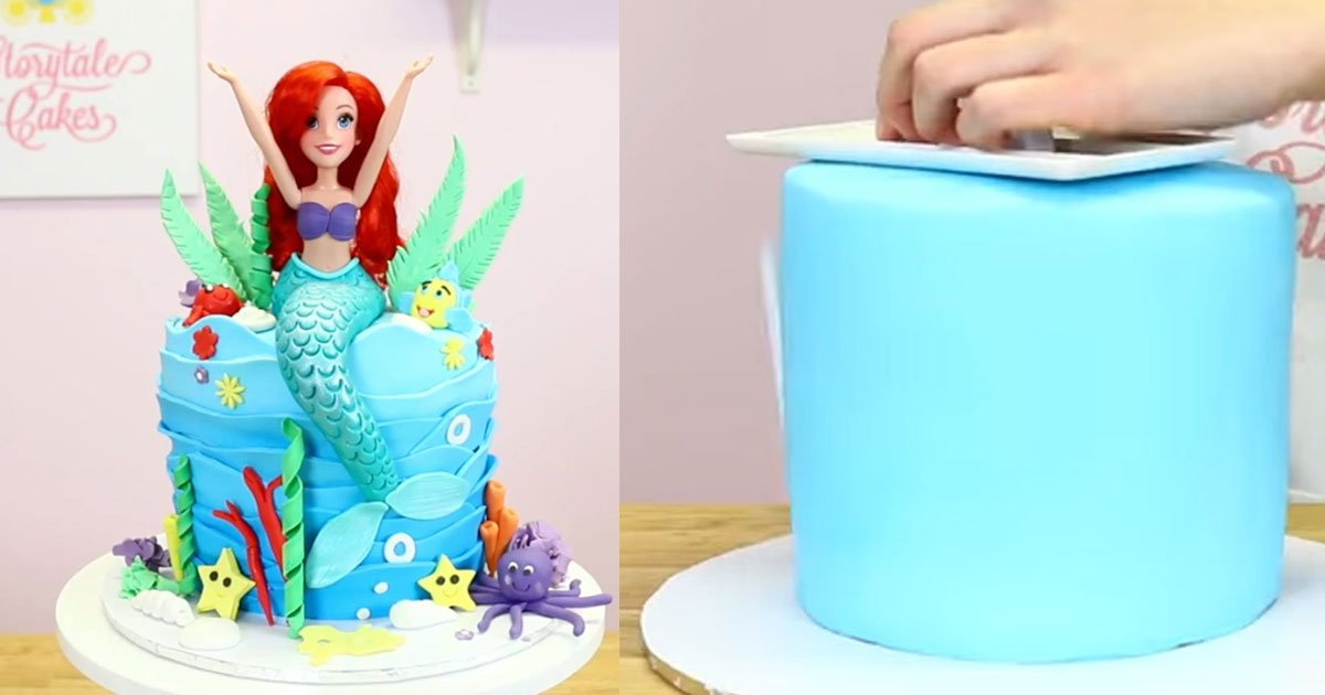 ariel mermaid cake.jpg?resize=1200,630 - Veja como fazer um lindo bolo da Pequena Sereia