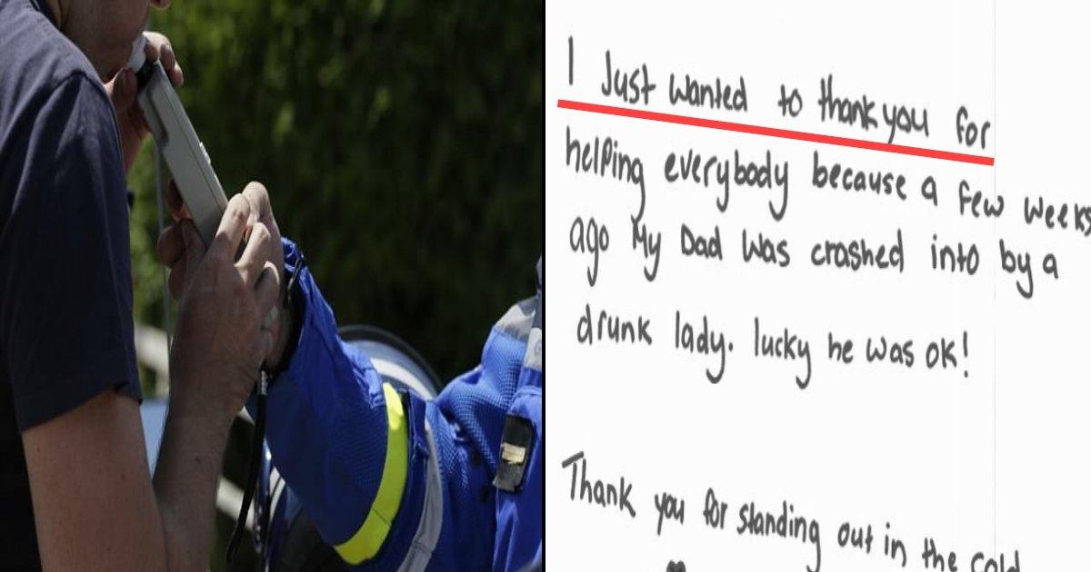 b side 3.jpg?resize=412,232 - Une petite fille écrit une lettre adorable à la police après qu'elle se soit faite arrêter pour un alcootest