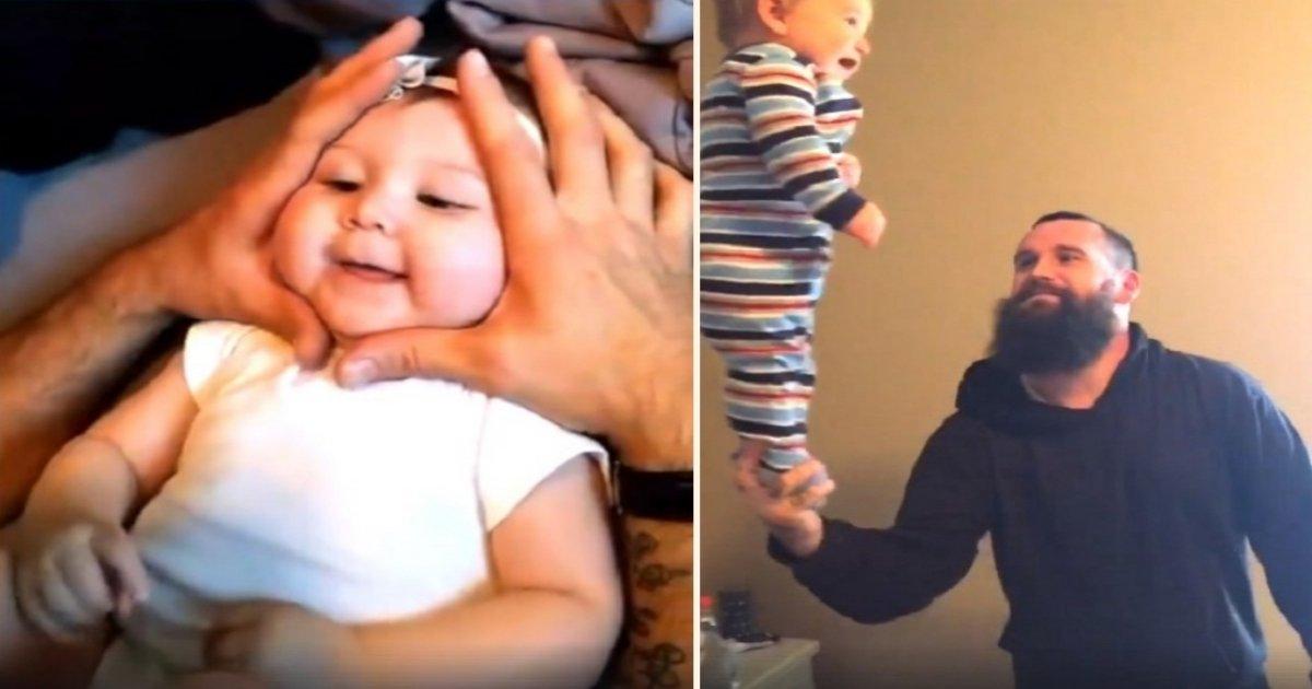 b side 5.jpg?resize=648,365 - Este vídeo super fofo de pais brincando com seus bebês viraliza e é muito adorável