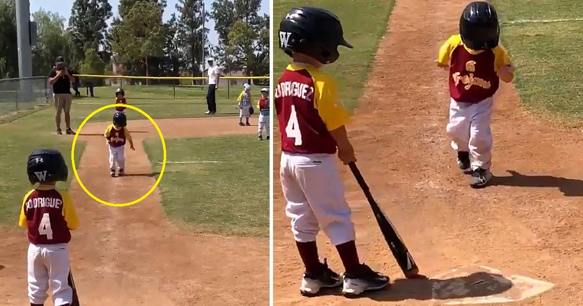 baseball.jpg?resize=1200,630 - 3-year-old Makes His Moment Shine With A Slow-motion Victorious Run