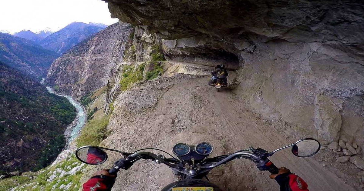 bb.jpg?resize=300,169 - Motorcyclists Ride On One Of The World's Most Dangerous Roads—And Their Courage Is Commendable