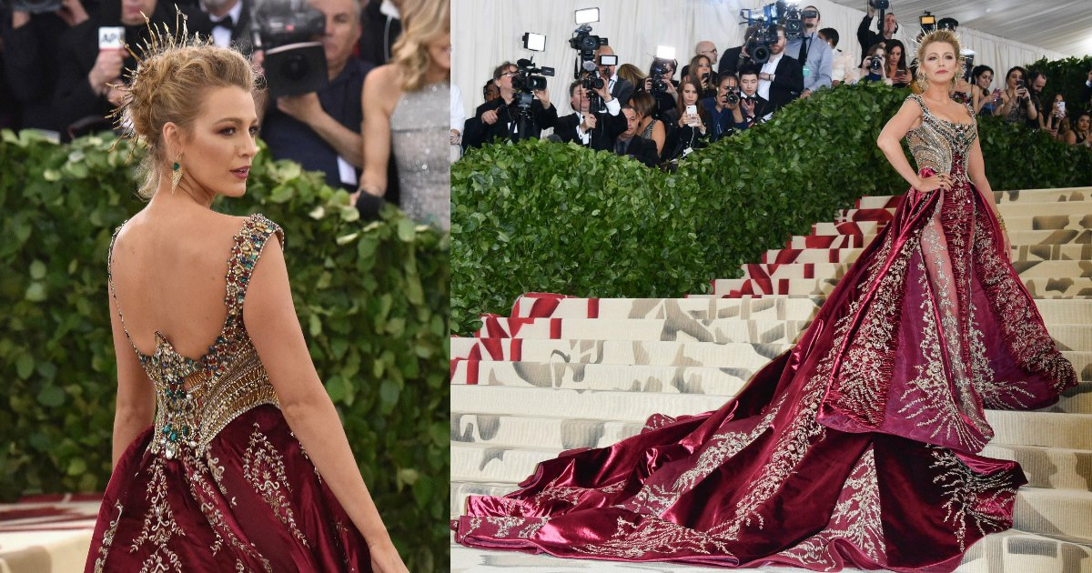 blake lively.jpg?resize=1200,630 - Blake Lively Stuns The Audience With Her Crimson-Colored Gown That Took 600 Hours To Make