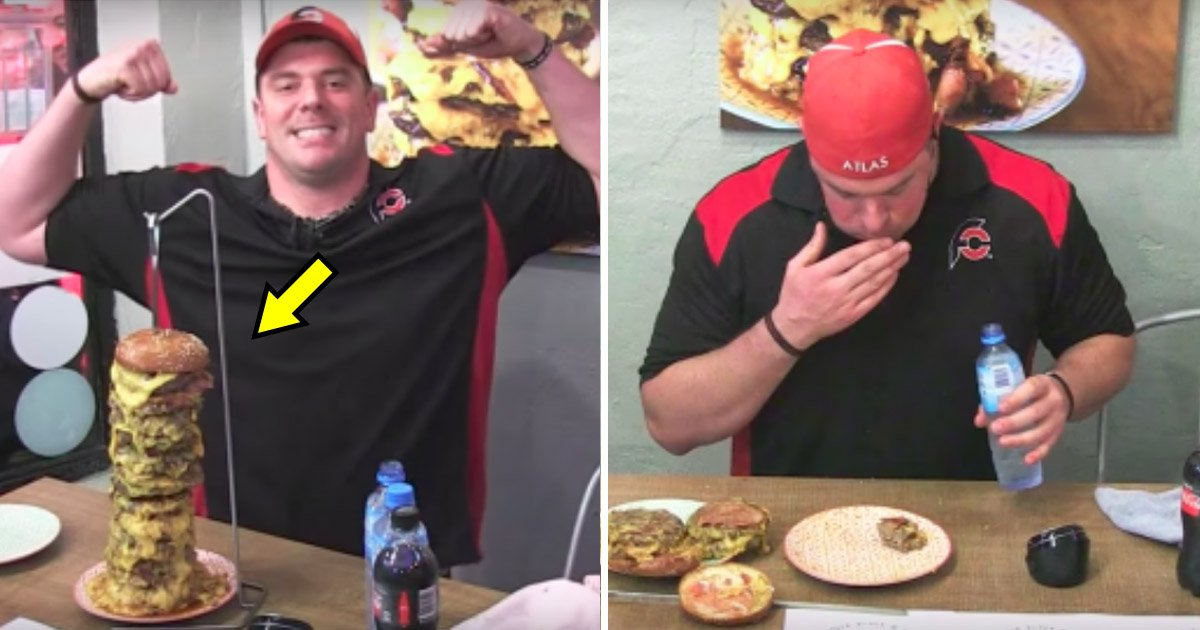 burger.jpg?resize=412,232 - Chainsaw Massacre Burger Challenge- Completed In 17 Minutes And 38 Seconds, Records Broken