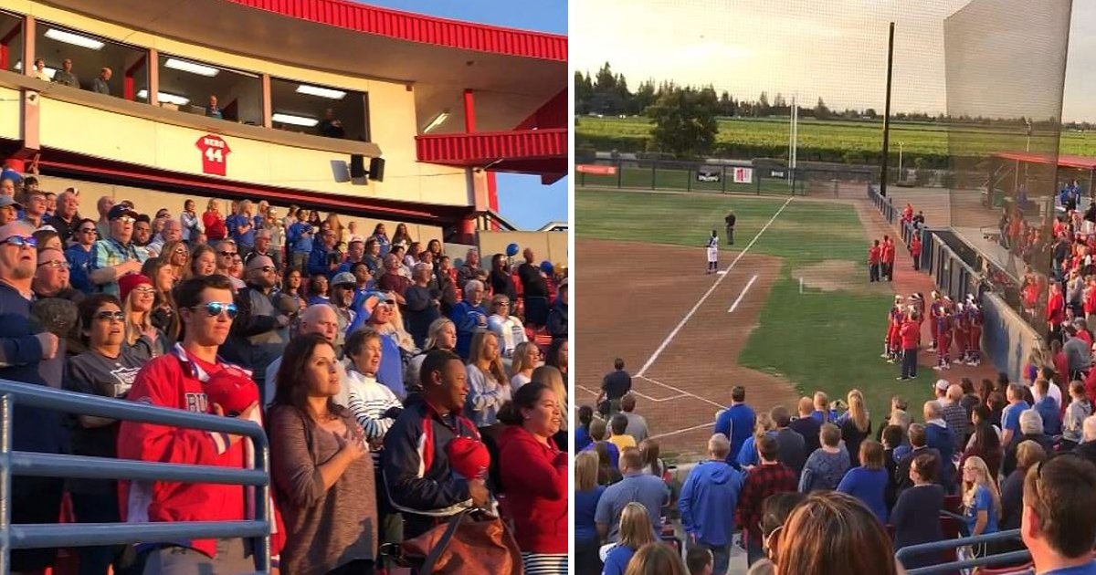 california.jpg?resize=1200,630 - Crowd Sang National Anthem After Announcer Said It Wouldn't Be Played