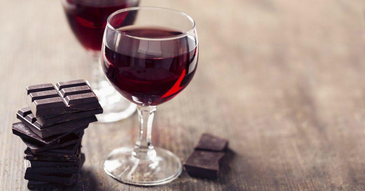 chocolate wine.png?resize=1200,630 - Chocolate e vinho tinto ajudam a manter a pele jovem, afirmam cientistas