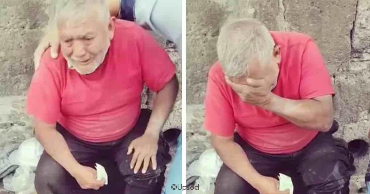 cover 28.jpg?resize=648,365 - Un joven le hizo un gran regalo a un anciano que trataba de vender sus dulces en la calle, algo realmente conmovedor