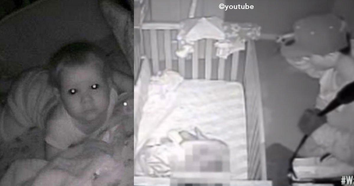 cover 7.jpg?resize=1200,630 - Uma mãe ouve pela babá eletrônica estranho falando com sua bebê no meio da noite.