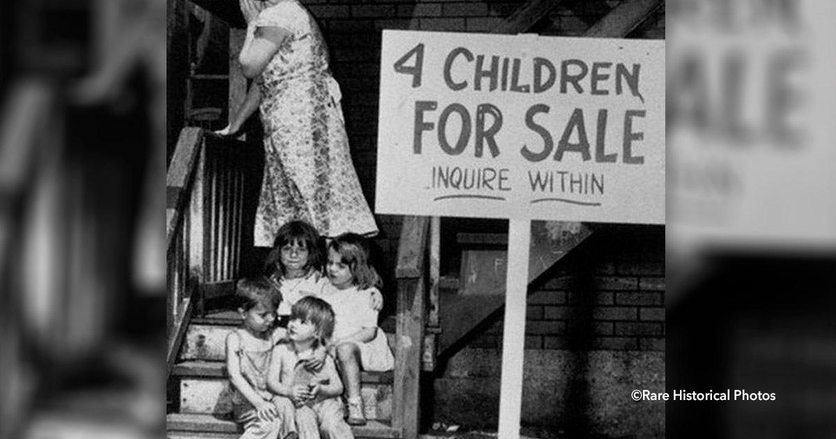cover224.jpg?resize=1200,630 - Una impactante fotografía de 1940 muestra cómo una madre puso a la venta a sus 4 hijos, la historia es desgarradora