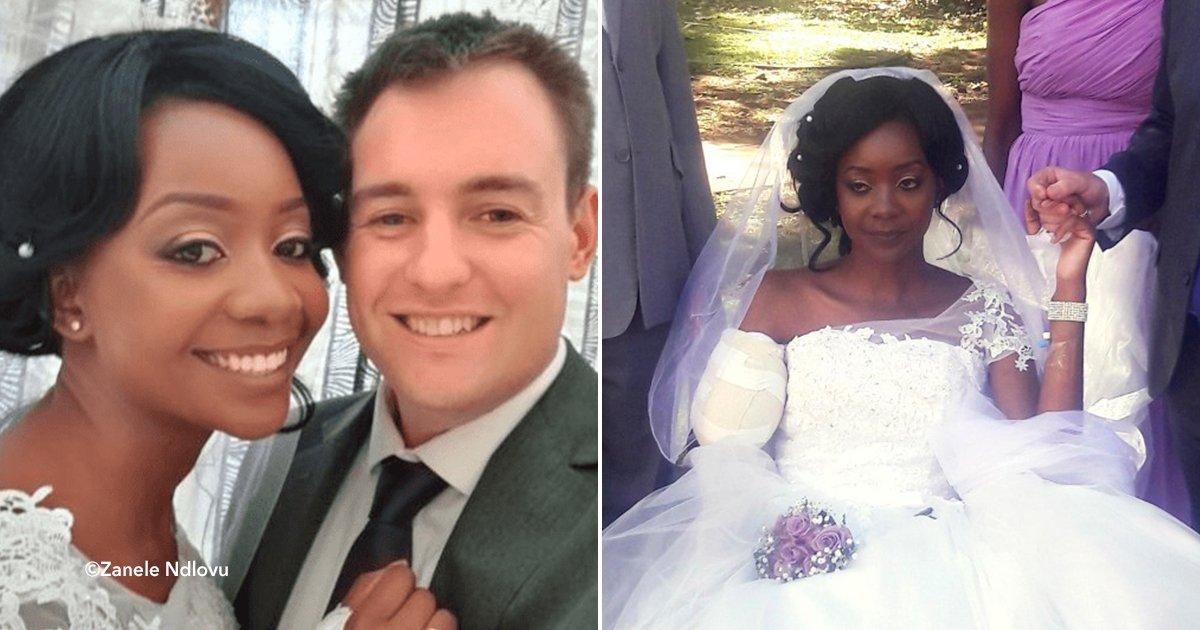 cover22boda.jpg?resize=1200,630 - Esta noiva andou até o altar sem o braço que ela acabara de perder devido a um ataque de um crocodilo
