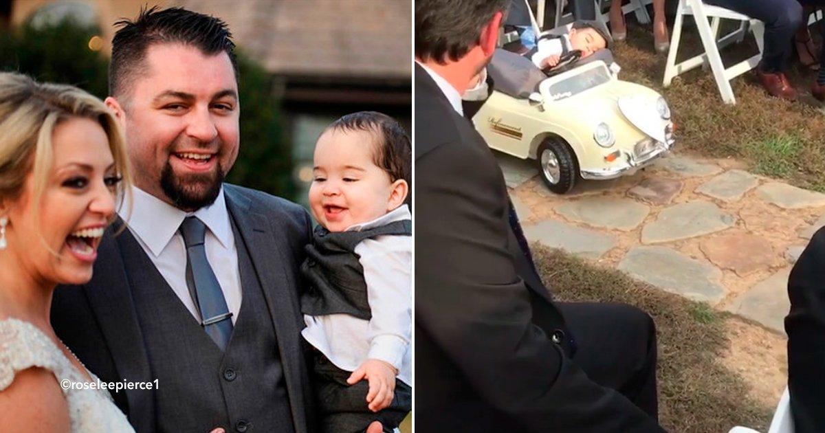 cover22fies.jpg?resize=1200,630 - Querían que su bebé les entregara los anillos en su boda, pero en plena ceremonia, se quedó dormido