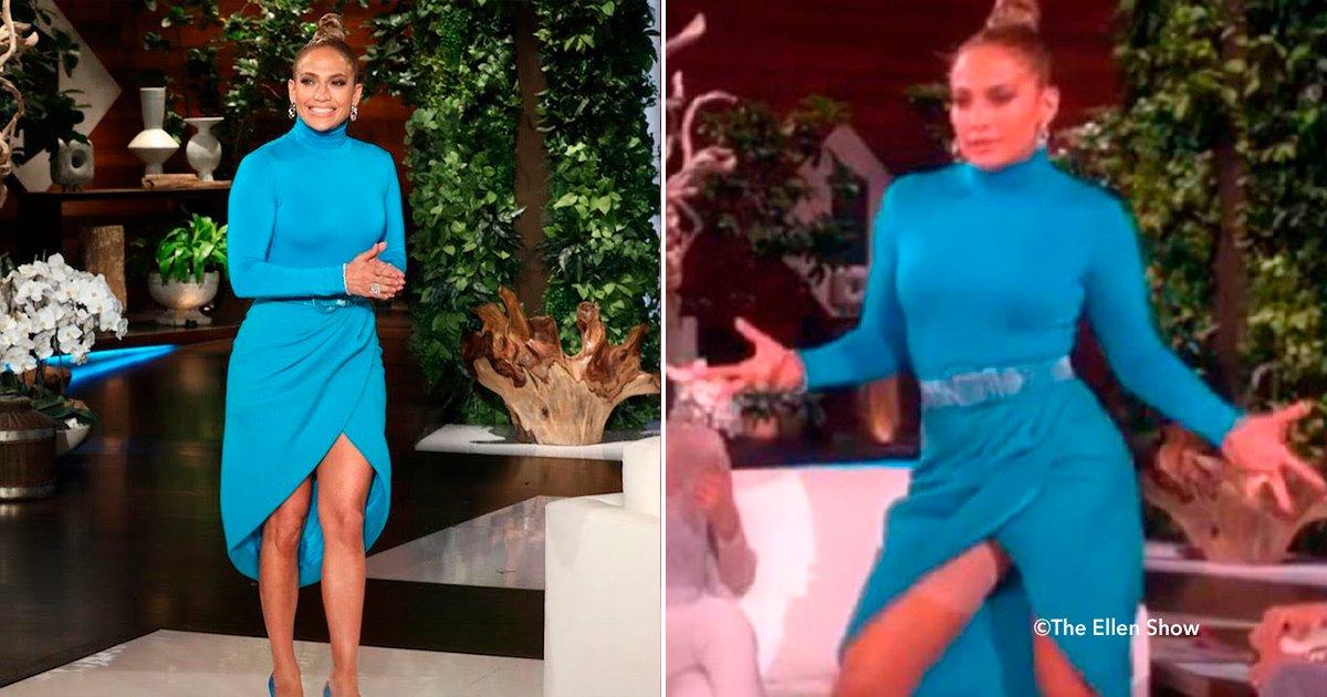cover22jen.jpg?resize=1200,630 - Por accidente, Jennifer Lopez dejó ver en un programa en vivo una faja que cubría todo su cuerpo