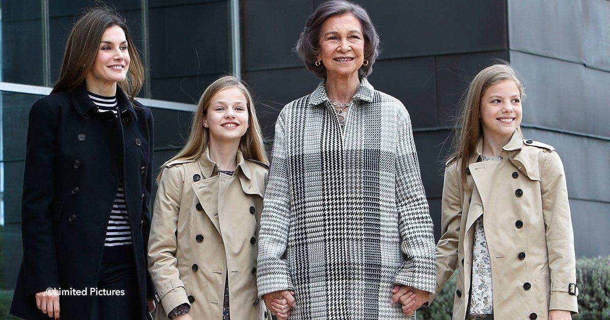 cover22leta.jpg?resize=1200,630 - Nueva polémica se genera en la Casa Real española al presentar en público a las hijas de Felipe VI luciendo costosísimas gabardinas