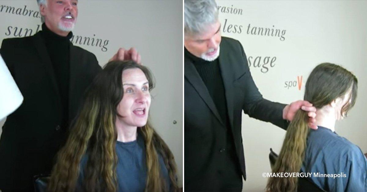 cover22plo.jpg?resize=412,232 - Uma mulher implorou ao estilista uma mudança radical no seu look e ele cortou 60 centímetros de cabelo