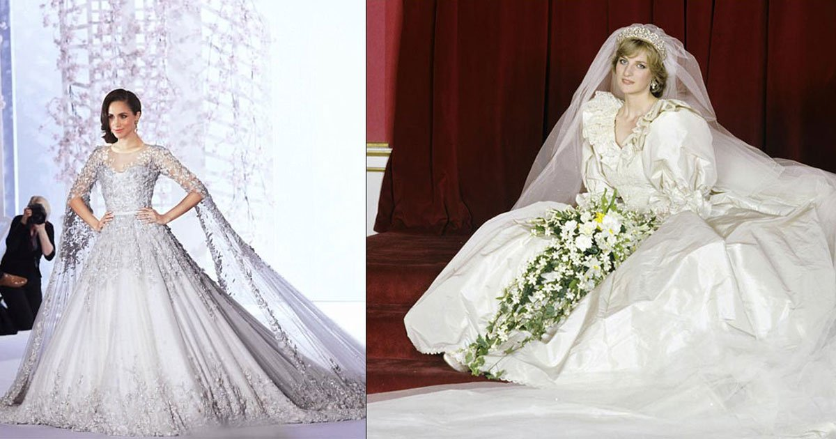 diana williams wedding dress cost less than meghans couture gown.jpg?resize=1200,630 - Late Princess Diana's £9,000 Wedding Dress Cost Less Than Meghan's Couture Gown