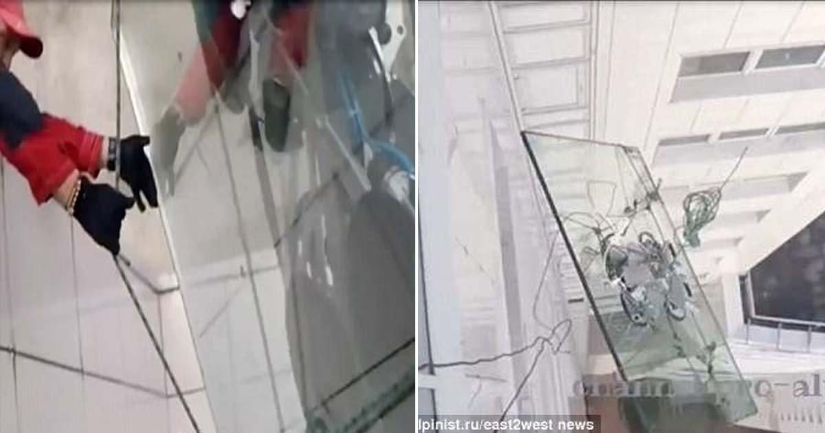 ebacb4eca09c 1 ebb3b5ec82ac 101.jpg?resize=648,365 - Construction Worker Drops Gigantic Window Glass From 47th Story While Working