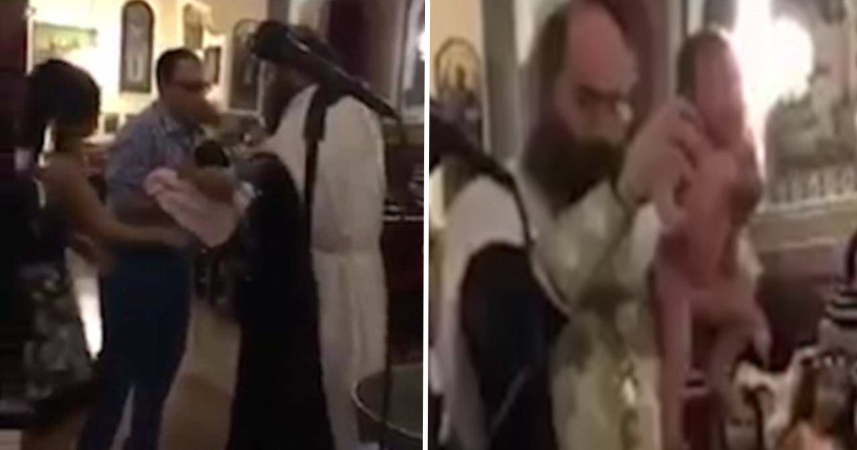 ec82aceba6acec9e90.jpg?resize=636,358 - Clip Showing The Violent Process Of A Bishop Performing Baptism Has Gone Viral On Internet