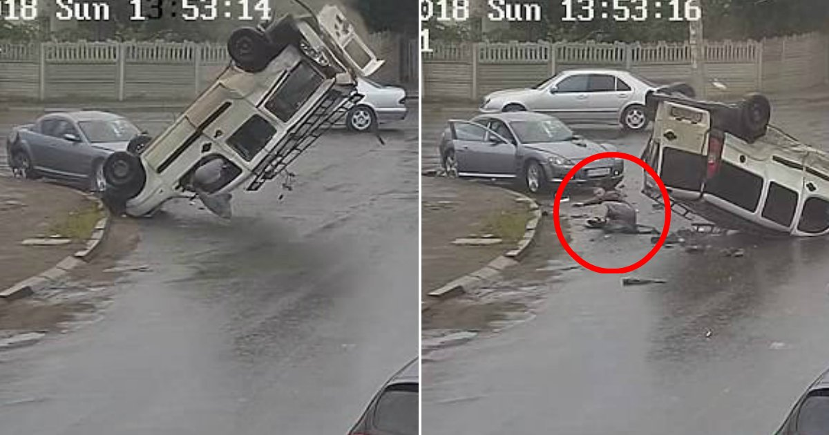 ec9db4eba684 ec9786ec9d8c2.jpg?resize=300,169 - Man Flies Out Of Car During Accident But Come Out Without A Scratch